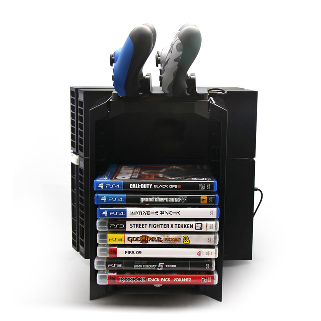 Multifunctional Storage Stand Gaming Controllers Charging Dock Station For PS4 Game Controller Free Shipping