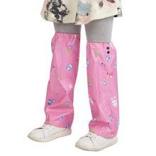Одежда для альпинизма и дождя для мальчиков и девочек; унисекс; детские непромокаемые брюки с рисунком героев мультфильмов; водонепроницаемая одежда с рукавами