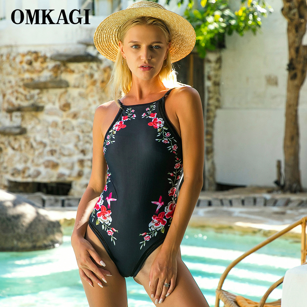 OMKAGI Brand Sexy One Piece Swimsuit Swimwear Women Push Up Bodysuit Swimming Bathing Suit Summer Beachwear Monokini 2017