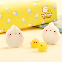 2Pcs/Lot Cute Rabbit and duck eraser Stationery Shaped Creative kawaii School Supplies learning office supplies