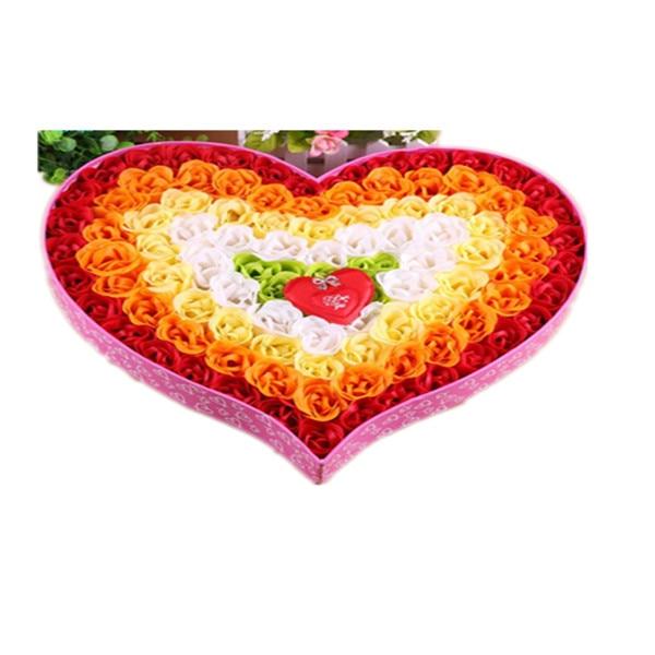 99pcs/box Rose Flower Bath Soap and Body Works Petal Bath Soap Wedding Party Gift Fancy Gift Items Bath Shower