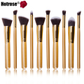 Hotrose Kabuki Makeup Brushes 10pcs Professional Cosmetics Facial Foundation Superior Soft brush Women Makeup Tool Kit
