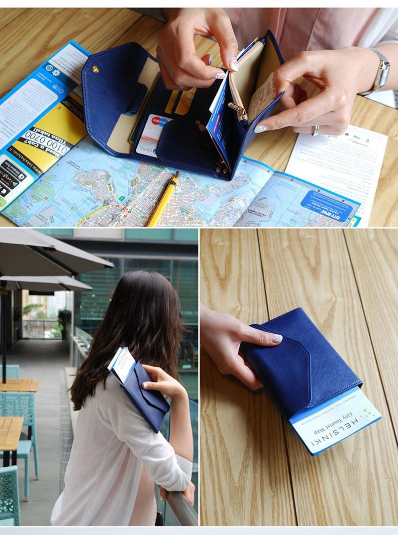 Yiwi passaporte planejador passaporte viagem carteira passaporte