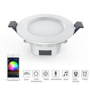 Image 3 - مصباح ذكي النازل لمبة led بلوتوث ماجيك RGBW إضاءة المنزل مصباح تغيير لون عكس الضوء 100 264VAC تنطبق على IOS/أندرويد