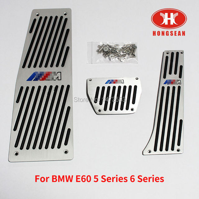 AT Brake Foot Rest Pedals for BMW E60 5 series 6 series  With M Logo Free shipping