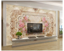 Custom 3d big painter home decoration white channel magnolia living room background modern mural as the Murales