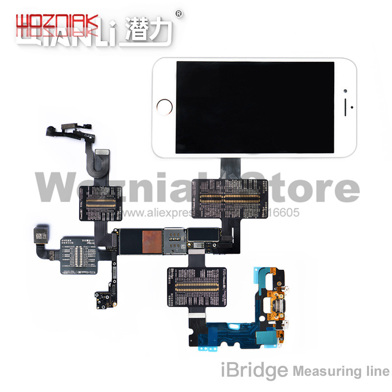 QIANLI iBridge Measuring Wiring Seat For IPHONE 6 6P 6S 6SP 7 7P Motherboard PIN resistance Voltage signal Test extension line