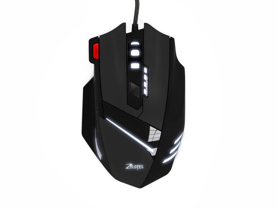 ZELOTES T-60 <font><b>7200DPI</b></font> Professional USB Wired Optical 7 Buttons Gaming Mouse 18May21 Drop Ship F image