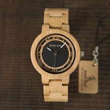 BOBO BIRD WN19 Wooden Watch Roman Digital Face Top Brand Luxury Clock for Men