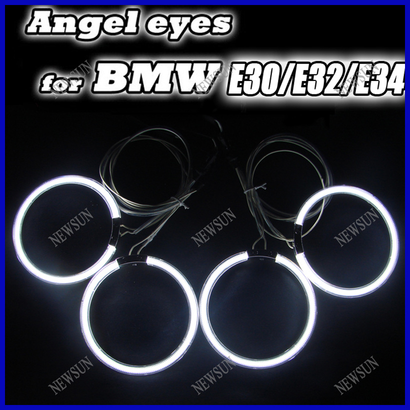 Ultra bright CCFL Angel Eyes Halo Rings Car light/ Auto lamp (4rings+2inverters) for BMW E30 E32 E34 Free shipping