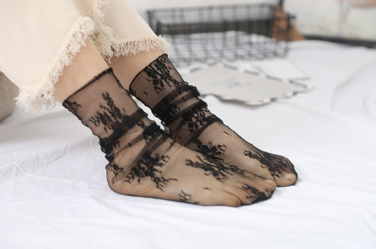 HTB19iW5TmzqK1RjSZFjq6zlCFXaI - Sexy Tulle Socks Transparent Thin Long Lace Socks For Women Girl Summer Funny Socks Female Dress Hosiery Loose Sock Street