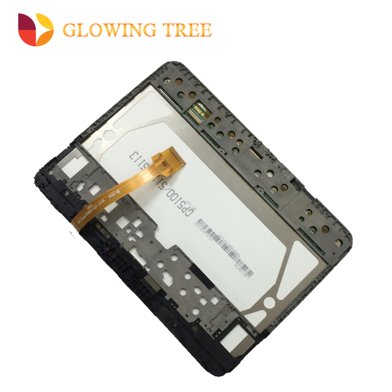 2 Color For Samsung Galaxy Tab 3 10.1 P5200 P5210 Touch Screen Digitizer Sensor + LCD Display Panel Monitor Assembly with Frame