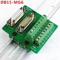 DB15 D Sub 15 Pin Terminal Block Breakout Board DIN Rail Type Dual Function