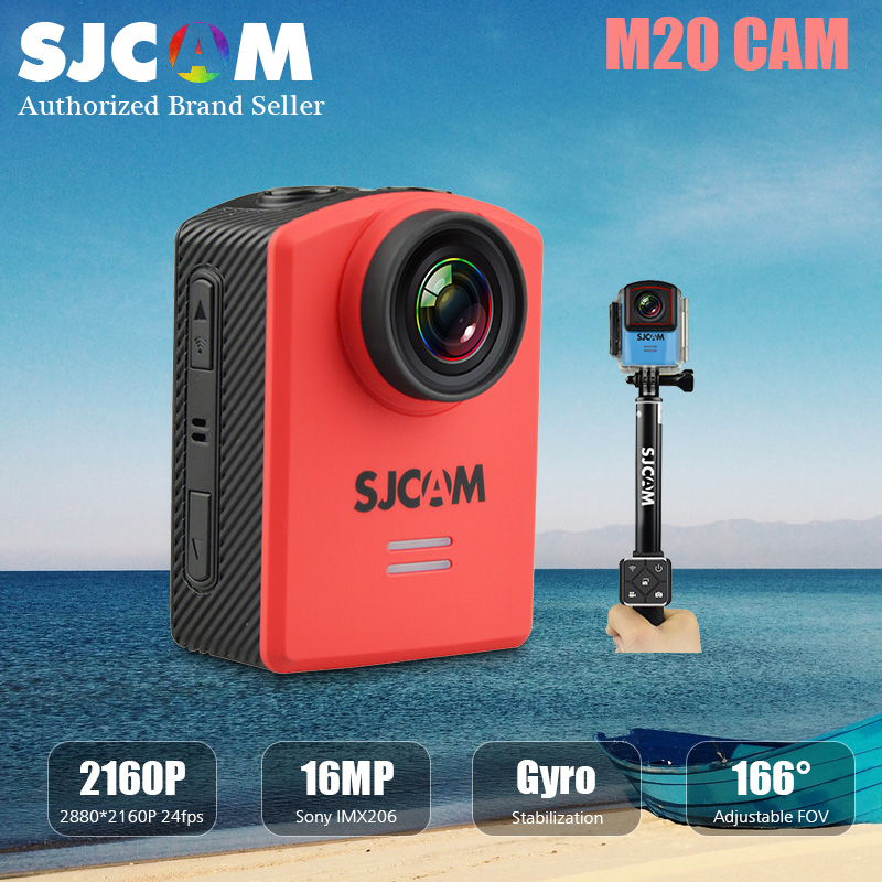 M20 sjcam wifi mini estabilizador de cámara de acción de vídeo 4 k 24fps16mp sel