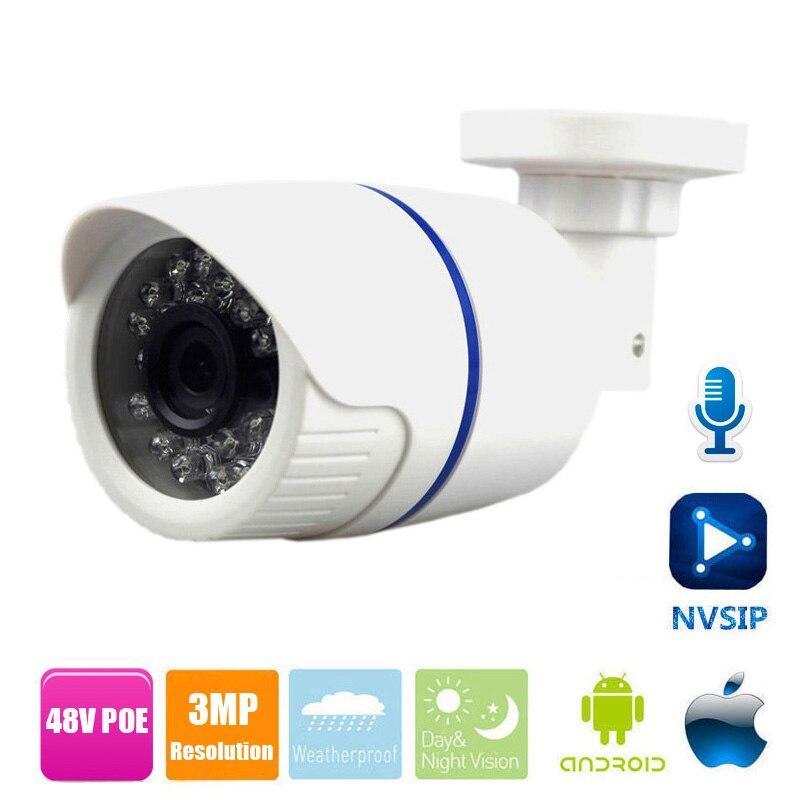 4MP IP Caméra POE Audio 4MP Caméra IP Avec microphone externe Ramassage En Plein Air Étanche Bullet caméra cctv