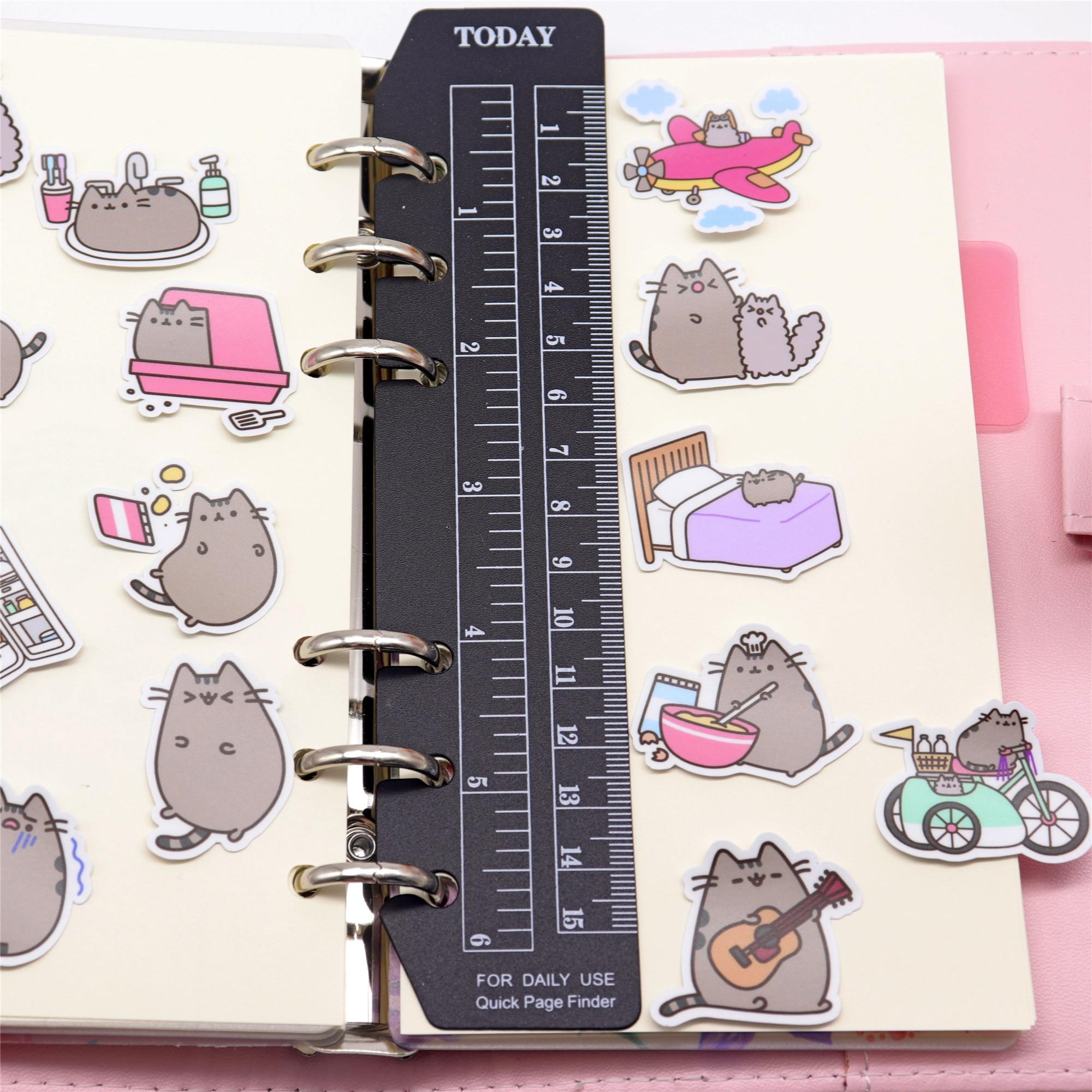 Купить с кэшбэком 39pcs Creative cute self-made fat cat sticker scrapbooking stickers /decorative sticker /DIY craft photo albums Waterproof