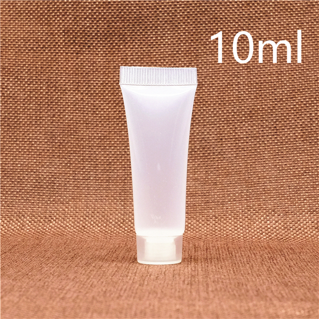 10ml Plastic Cosmetic Lotion Bottle Shampoo Cream Squeeze Container Cleanser Soft Tubes Hotel Supplies