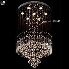 Alta calidad moderna lámpara de cristal de comedor sala de estar moderna lámpara de personalidad creativa iluminación de la lámpara circular