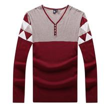 9XL 8XL 6XL 5XL Sweater Man 100% Pure Cashmere Knitted Winter Warm Pullovers V-neck Long Sleeve Standard Sweaters Male Jumper
