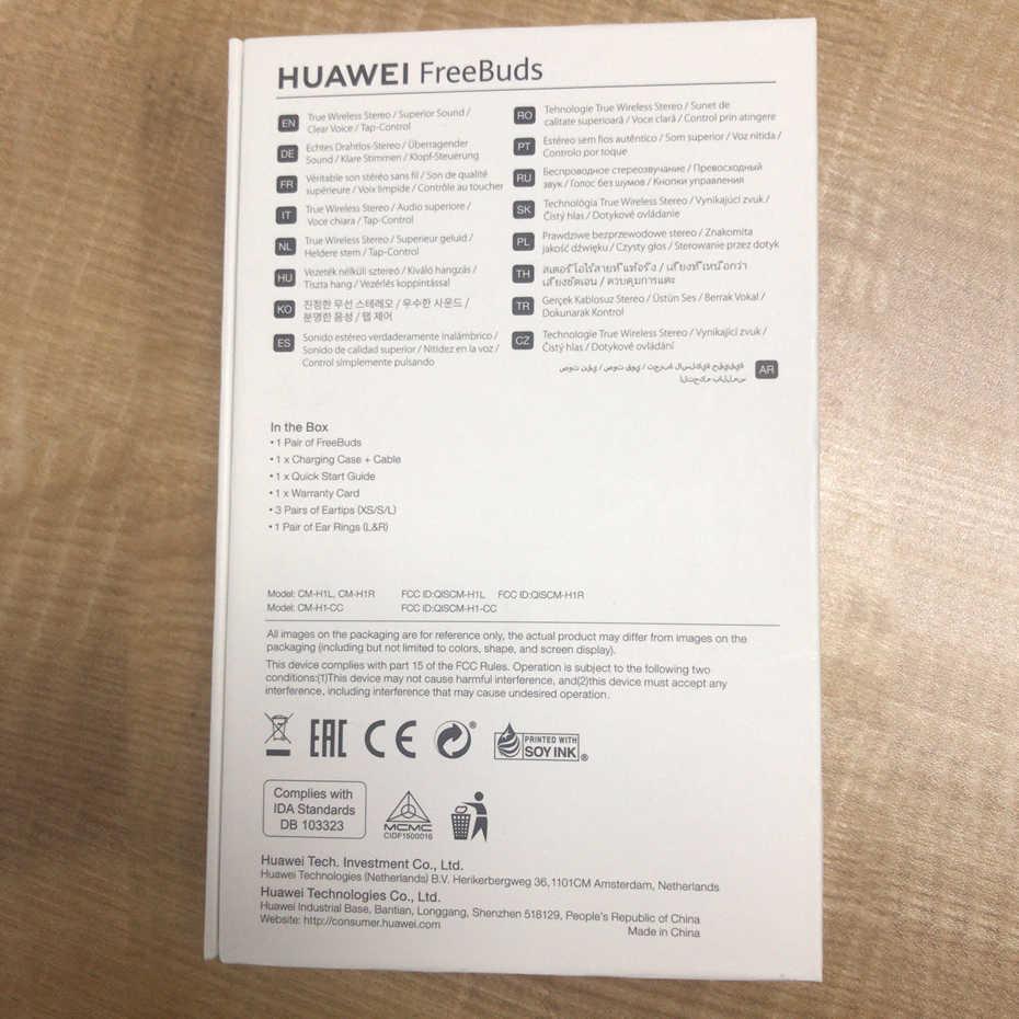 Huawei FreeBuds Global Version Huawei Bluetooth Headset Hi-Fi Wireless  earphone Tap control Built-in G-Sensor Waterproof IP54
