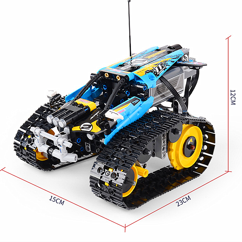 Technic series the Remote Controlled Stunt Racer Model Building Blocks set Compatible with 42095 classic toys