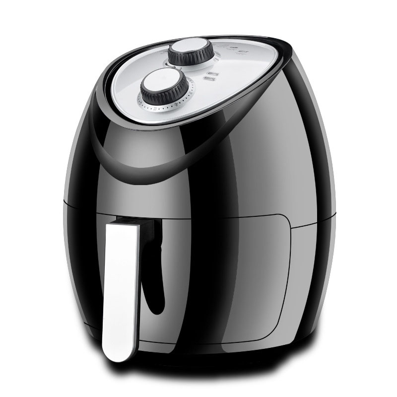 купить New Round Air Fryer 4.8L French Fries Mechanical Electric Deep Fryer No Oil Smoke Multi Cooker 1500W Safe Cooking Machine онлайн