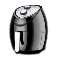 New Round Air Fryer 4.8L French Fries Mechanical Electric Deep Fryer No Oil Smoke Multi Cooker 1500W Safe Cooking Machine