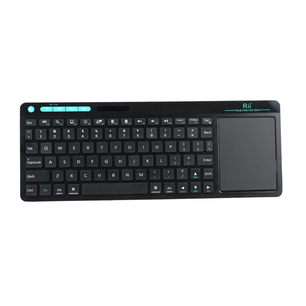Clavier multimédia sans fil Rii K18 2.4 GHz d'origine avec souris tactile, pour PC, Google Smart TV, HTPC IPTV, Android Box