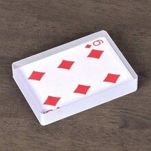 Омни-колода, стеклянная колода для карт, волшебные трюки для льда, аксессуары для карт, иллюзия, трюк, знак, карта для очистки, блок Magie