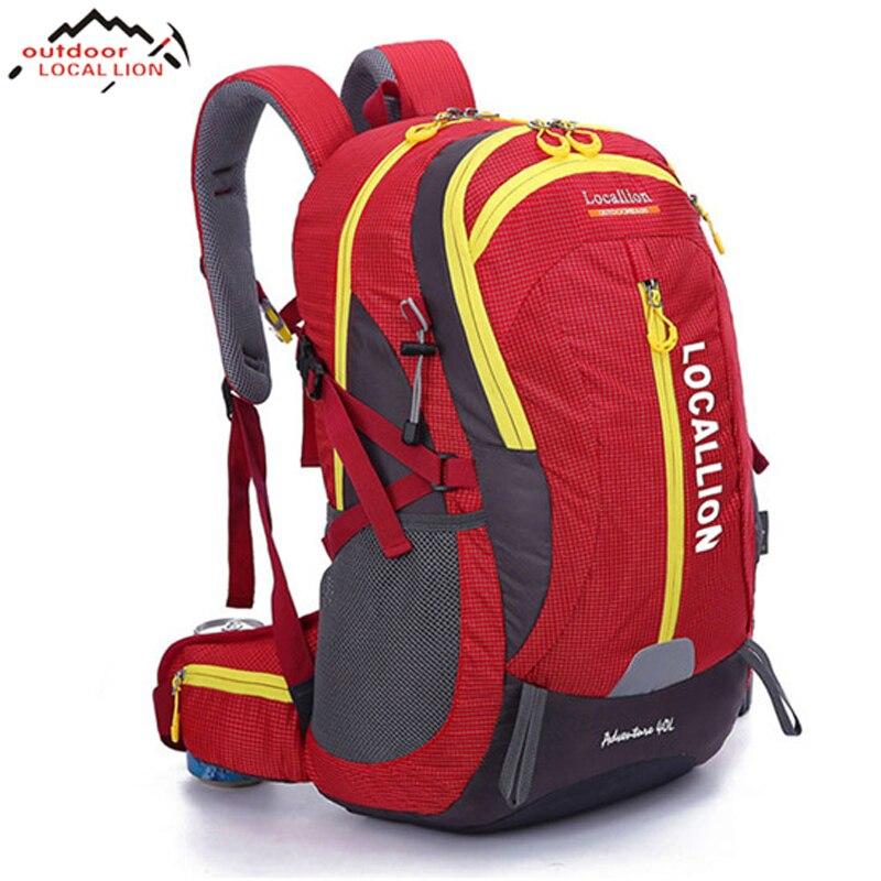 LION 40L randonnée Camping sac à dos en plein air escalade Sport sac vélo sac à dos étanche touristique voyage sac à dos couleurs