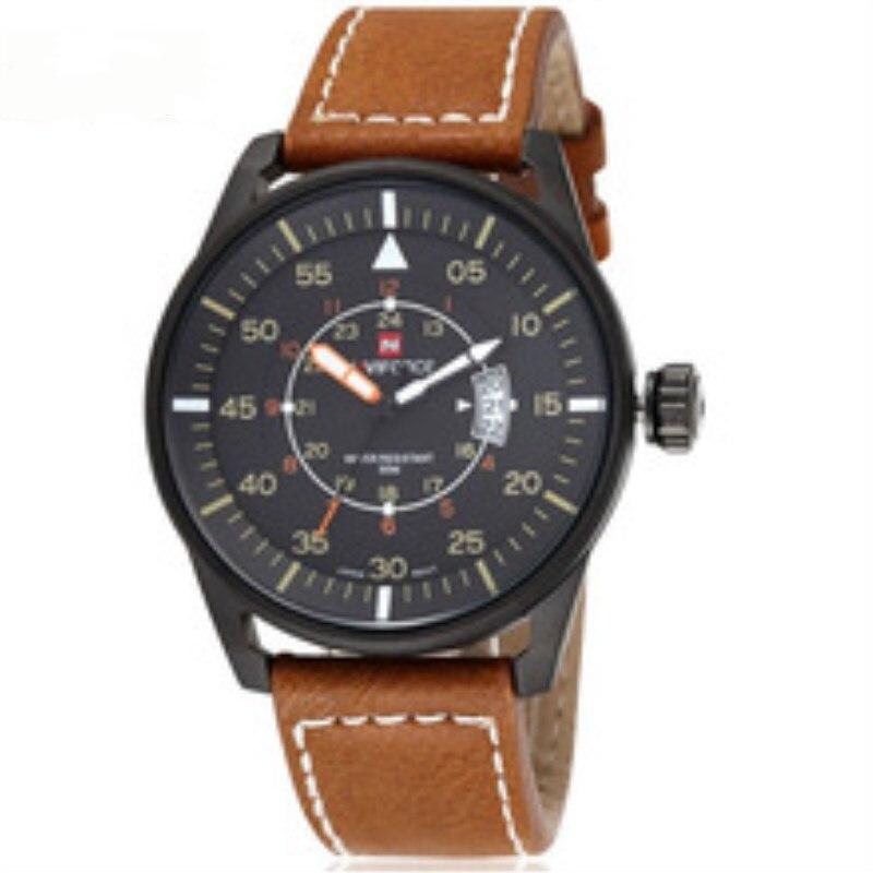 Sport Watch Men NAVIFORCE Mens Watches Top Brand Luxury Business Leather Band Classic Quartz Male Clock Military Watch Wrist2018 цена