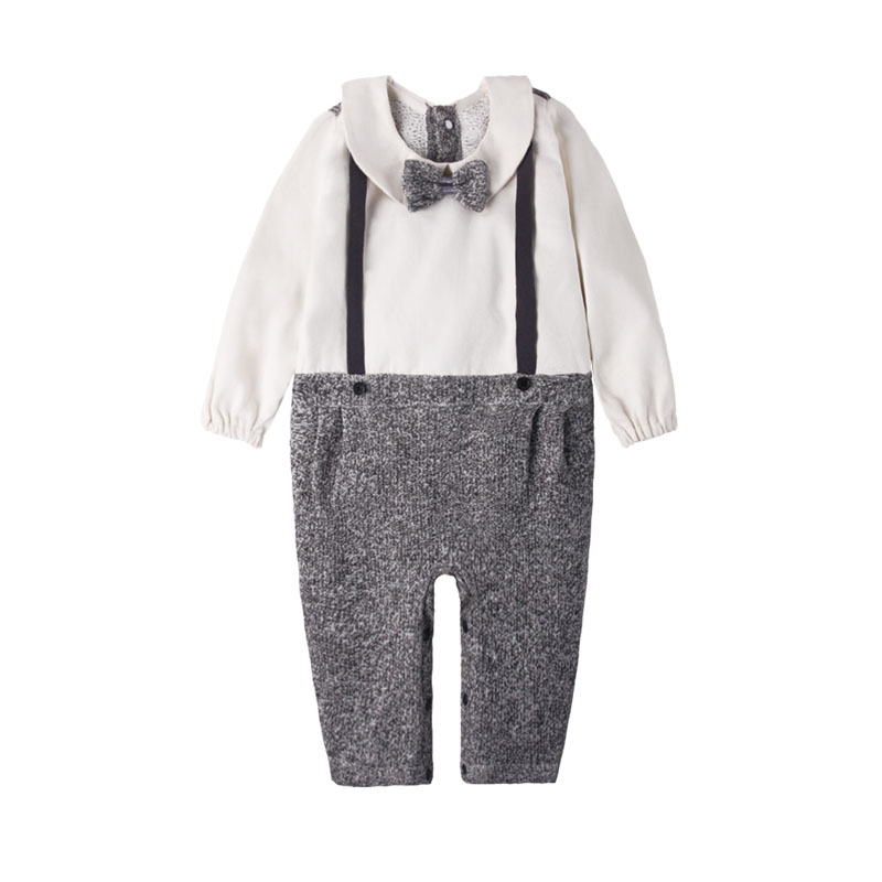RP1 0-24M Boys Spring Autumn Long Sleeve Romper Infant Casual Bow Tie Baby Boy Clothes Newborn Girls Jumpsuit infantil Rompers newborn baby girls jumpsuit rompers boys clothes romper for infant baby girls pajamas spring autumn long sleeve cotton costumes