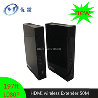 WHDI Video Audio Signal Transmission System HDMI Wireless Extender 50M HD Receiver And Transmitter 1080p Up