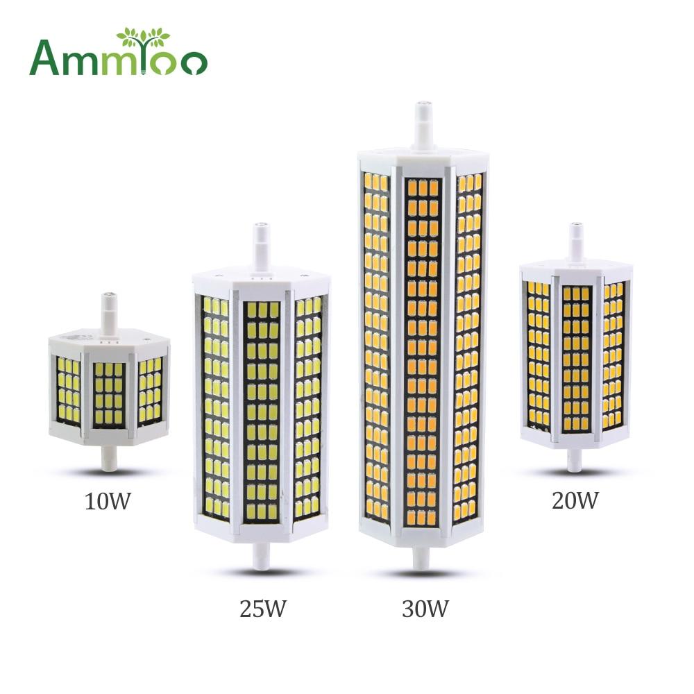 Ammtoo r7s led light 78mm 118mm 135mm 189mm bombilla led lamp 10w 20w 25w 30w bombillas led for R7s led 118mm 20w