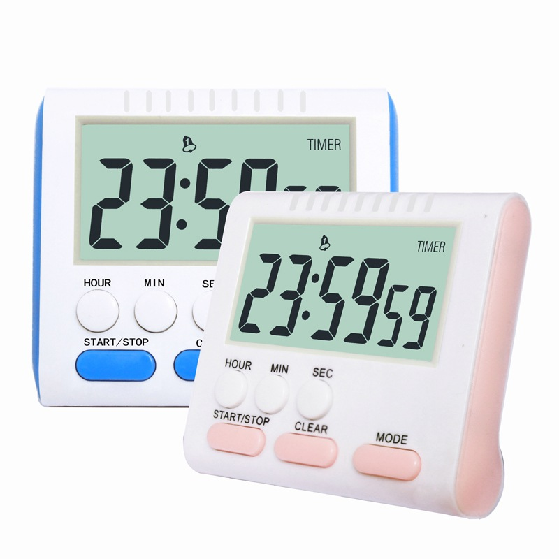 AAA Battery Operated with Magnet and Stand Large Digits For Baking Study Beauty Multifunctional Digital Kitchen Timers