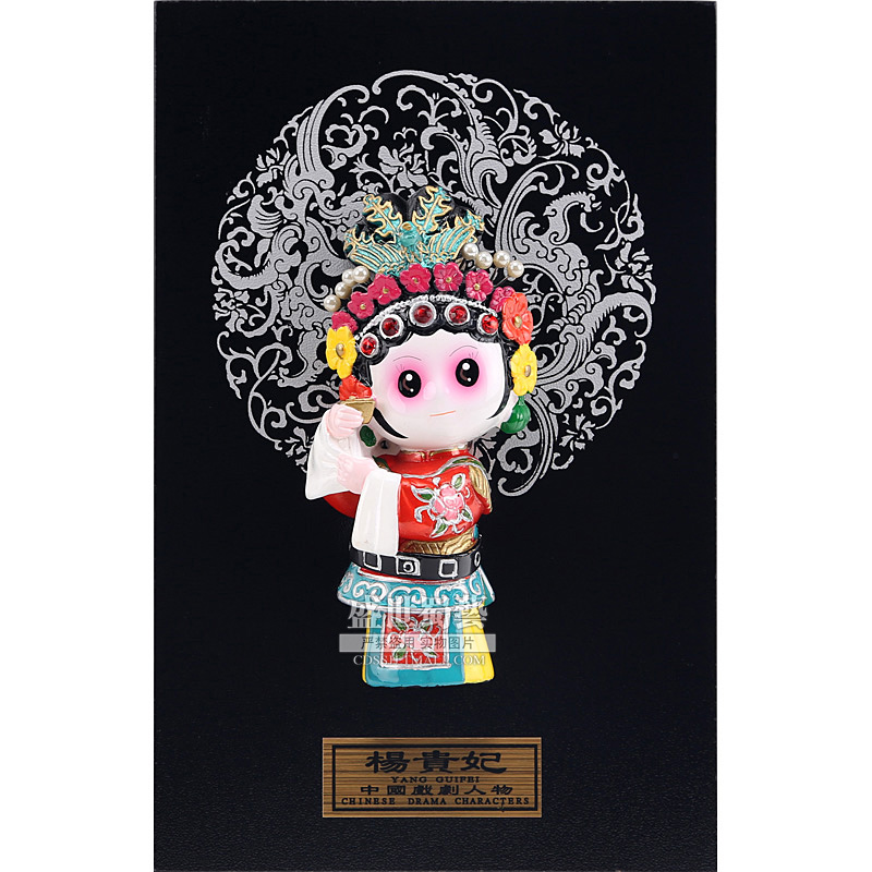 20cm Height Peking Opera Dolls Yangguifei Table Wall Decoration Folk Handicraft Furnishing Articles Chinoiserie Gifts image