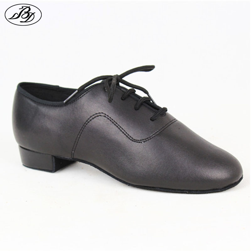 Boys Standard Dance Shoes BD 702 Black Straight Dance Shoes Dancesport Shoes Ballroom Dance Shoe Waltz