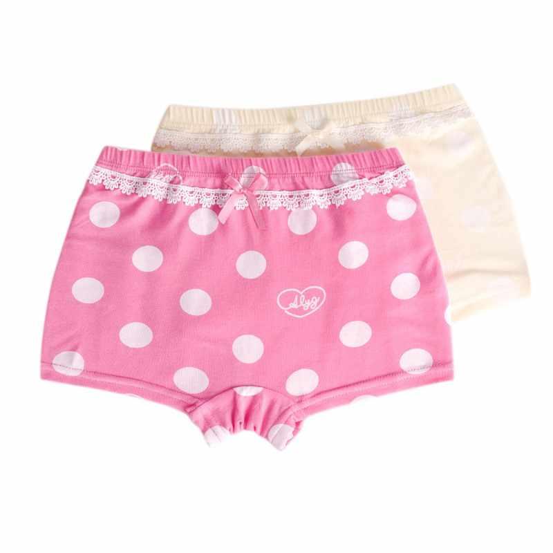 a7e6c9e58332 Baby Girls Underwear Toddler panties for girls 2Pcs Children Panties Solid  Cotton Cartoon Print Panties Boxer