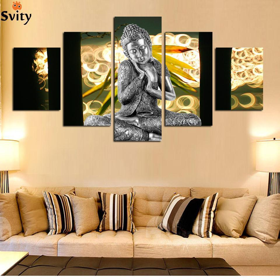 Hot sell free shipping Wall Art Buddha Painting On Canvas Abstract ...