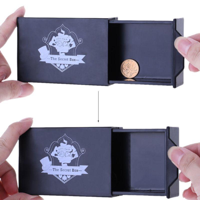 Cool Magic Black Box Vanished Box Puzzle Box Magic Tricks Surprise Box Kids Toy Dec17