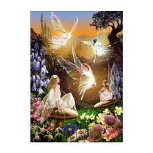 5D DIY Diamond Painting Cartoon Cross Stitch Full Circle Embroidery Butterfly Elf Pattern Mosaic Needle
