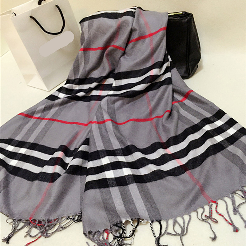 para mujer de la bufanda larga moda casual clido chal de cachemira bufanda a cuadros