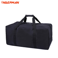 2018 Large Capacity Nylon Travel Bag Solid Zipper Casual Tote Waterproof Folded Duffle Bag Portable Luggage Black XL