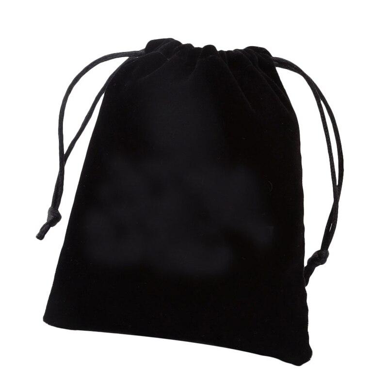 JOVIVI Новый 12 х 10 см Оптовая Продажа Лот черный бархат Drawstring ювелирные изделия в упаковке bag Рождество свадебный подарок ручной работы сумка