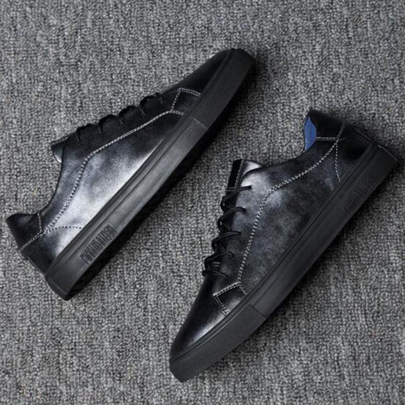 2018 Män Solid Color Casual Sneakers Skor, Andas Vattentät - Herrskor - Foto 3