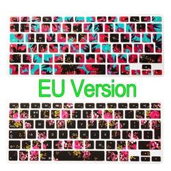 ЕС Версия силиконовые Английский Клавиатура Наклейки Защитная крышка для MacBook Air 13/Pro 13 15 17/Retina 13 15