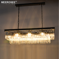 Modern Rectangle Pendant Lights Crystal Hanging Lustre de cristal Lamp Dining room foyer Pendant Lighting 100% Guarantee