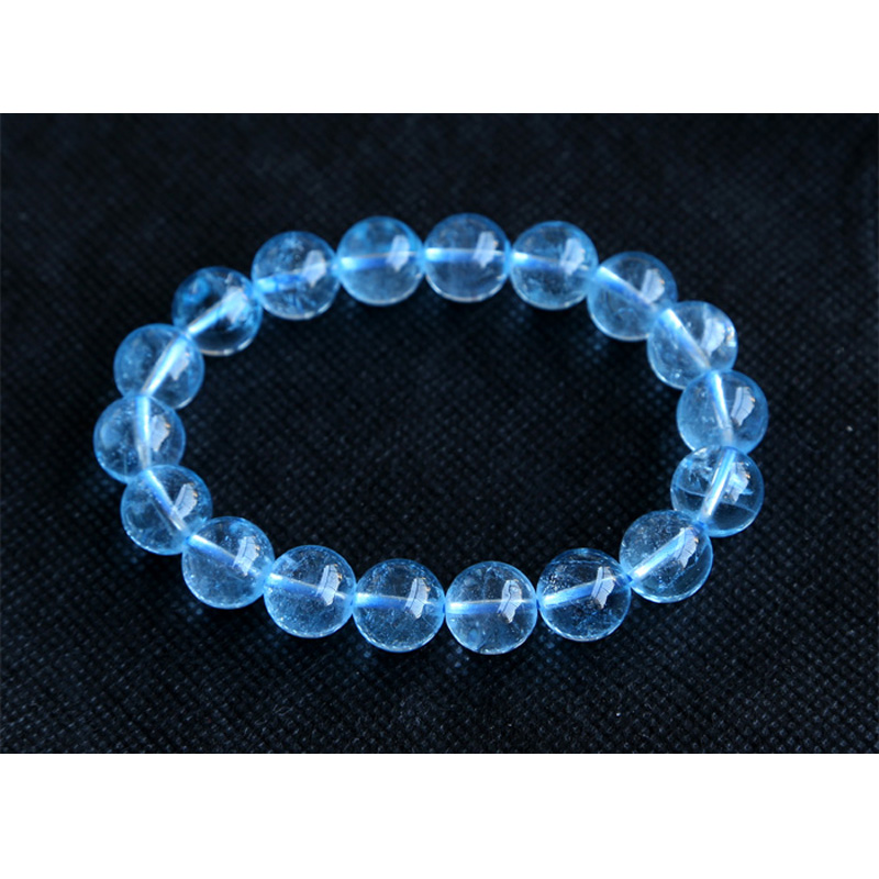 الجملة عالية الجودة واضح حقيقية الأزرق توباز أساور ممتدة جولة كبيرة الخرز 7 ملليمتر 8 ملليمتر 9 ملليمتر 10 ملليمتر 11 ملليمتر 12 ملليمتر 13 ملليمتر-في أساور وخلخال من الإكسسوارات والجواهر على  مجموعة 1