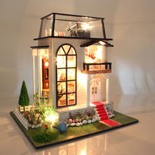 New Arrival Hoomeda 13837 Handmake DIY Dollhouse Miniature Model With Light Music Motor Doll House Room Toys Gift(China)