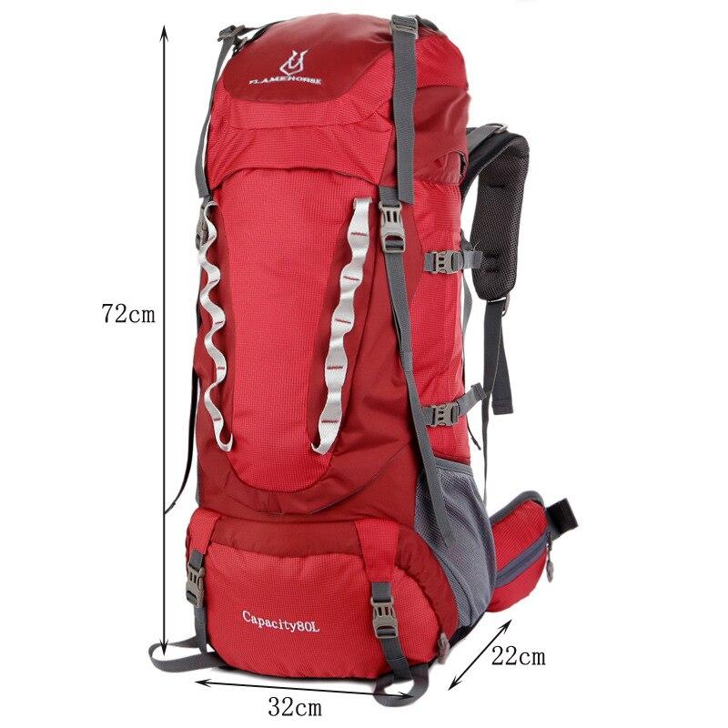 80L grande capacité alpinisme chasse voyage escalade Nylon étanche sac à dos Molle sacs à dos avec sac à cadre interne BD39 - 2